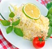 Mimosa salad - closeup Stock Images