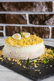 Mimosa salad Royalty Free Stock Image