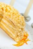 Mimose-Kuchen Lizenzfreie Stockfotografie