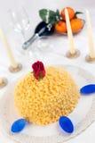 Mimose-Kuchen Stockbild