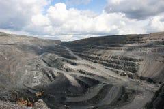Minério de ferro da pedreira Fotos de Stock Royalty Free