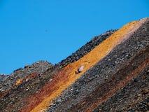 Minério de ferro esgotado Fotografia de Stock