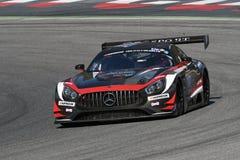 12 minérios Hankook Mugello 18 de março de 2017: ESPORTE que COMPETE, Mercedes AMG GT3 de #17 IDEC Imagens de Stock Royalty Free
