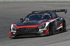 12 minérios Hankook Mugello 18 de março de 2017: ESPORTE que COMPETE, Mercedes AMG GT3 de #17 IDEC Foto de Stock Royalty Free