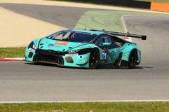 12 minérios Hankook Mugello 18 de março de 2017: #21 Konrad Motorsport, Lamborghini Huracan GT3 Imagens de Stock Royalty Free