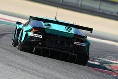 12 minérios Hankook Mugello 18 de março de 2017: #21 Konrad Motorsport, Lamborghini Huracan GT3 Fotografia de Stock Royalty Free