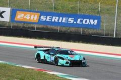 12 minérios Hankook Mugello 18 de março de 2017: #21 Konrad Motorsport, Lamborghini Huracan GT3 Imagem de Stock Royalty Free