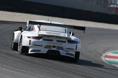 12 minérios Hankook Mugello 18 de março de 2017: Motorsport da coleção do carro #34, Audi R8 LMS Imagens de Stock