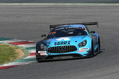 12 minérios Hankook Mugello 18 de março de 2017: Motorsport de #25 HTP, Mercedes AMG GT3 Fotos de Stock