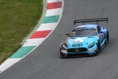 12 minérios Hankook Mugello 18 de março de 2017: Motorsport de #25 HTP, Mercedes AMG GT3 Imagem de Stock Royalty Free