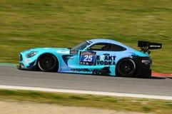 12 minérios Hankook Mugello 18 de março de 2017: Motorsport de #25 HTP, Mercedes AMG GT3 Foto de Stock
