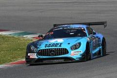 12 minérios Hankook Mugello 18 de março de 2017: Motorsport de #25 HTP, Mercedes AMG GT3 Imagens de Stock Royalty Free