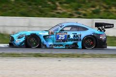12 minérios Hankook Mugello 18 de março de 2017: Motorsport de #25 HTP, Mercedes AMG GT3 Foto de Stock Royalty Free