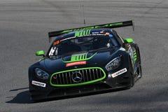 12 minérios Hankook Mugello 18 de março de 2017: #38 MS Racing, Mercedes AMG GT3 Foto de Stock Royalty Free
