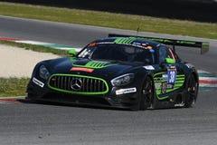 12 minérios Hankook Mugello 18 de março de 2017: #38 MS Racing, Mercedes AMG GT3 Imagens de Stock