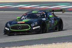 12 minérios Hankook Mugello 18 de março de 2017: #38 MS Racing, Mercedes AMG GT3 Fotografia de Stock