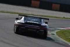 12 minérios Hankook Mugello 18 de março de 2017: #1 quecompete, Mercedes AMG GT3 Fotografia de Stock Royalty Free