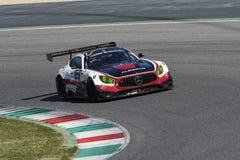12 minérios Hankook Mugello 18 de março de 2017: #1 quecompete, Mercedes AMG GT3 Fotos de Stock