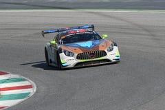 12 minérios Hankook Mugello 18 de março de 2017: #30 Ram Racing, Mercedes AMG GT3 Fotografia de Stock