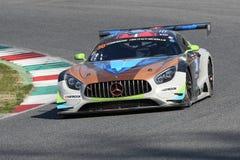 12 minérios Hankook Mugello 18 de março de 2017: #30 Ram Racing, Mercedes AMG GT3 Fotos de Stock