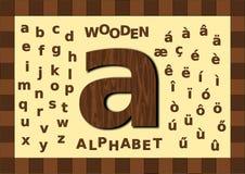 Minúscula de madera del alfabeto Fotos de archivo libres de regalías