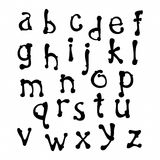 Minúscula dibujada mano de la fuente Imagenes de archivo