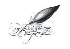 Min ängel är alltid med me_1 Royaltyfri Foto