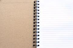 min anteckningsbok Arkivfoton