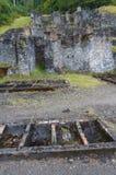 Min arbeten för gammal ledning, Snowdonia Arkivfoton