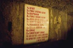 Min Bartolomej - regler av gruvarbetare arkivfoto