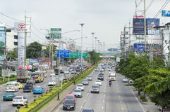 Min Buri Road  street view in  thailand. Stock Images