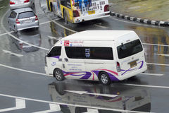 Min Buri Road van thailand taxi Stock Image