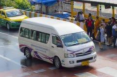 Min Buri Road van thailand taxi Royalty Free Stock Images