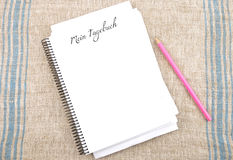 min dagbok Royaltyfria Bilder