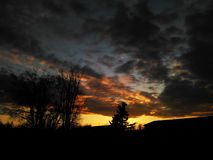 Min favorit- solnedgång Royaltyfri Bild