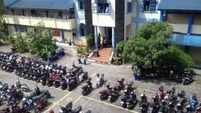 min gymnasiumskola Arkivfoton