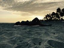 Min härliga fru på sanden Royaltyfri Fotografi