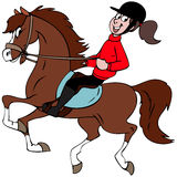 min häst Arkivbilder