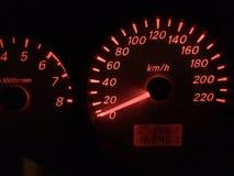 Min hastighetsmätare Arkivfoton