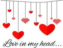 min head förälskelse vektor för dagillustrationvalentiner Arkivfoto