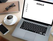 MIN MÅLhandskrift av det skriftliga målet Succes för motivational minneslista Arkivfoton