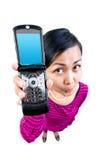 min nummertelefon Arkivfoto