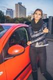 Min nya bil!! Royaltyfri Bild