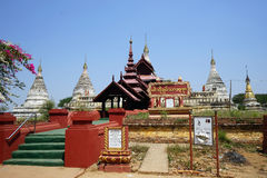 Min O Chan Tha temple. BAGAN, MYANMAR - CIRCA APRIL 2017 Min O Chan Tha temple in old Bagan stock image