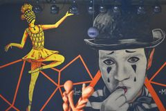 Min och dansare Arkivbild