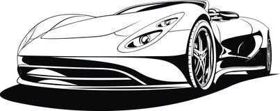 Min original- design för sportbil Arkivfoton