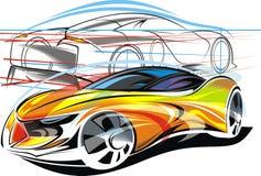 Min original- design för sportbilar stock illustrationer