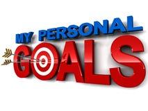 Min personliga mål Arkivbild