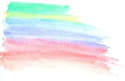 Min slaglängd för målarfärg för färg för vatten för konstarbete Royaltyfri Foto