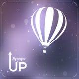 Min väg är UPP illustration för vektor för ballong för varm luft royaltyfri illustrationer